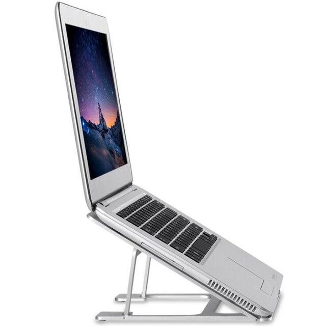 New Folding Adjule Aluminum Laptop Desk Stand Holder For Tablet Notebook Portable Lapdesks