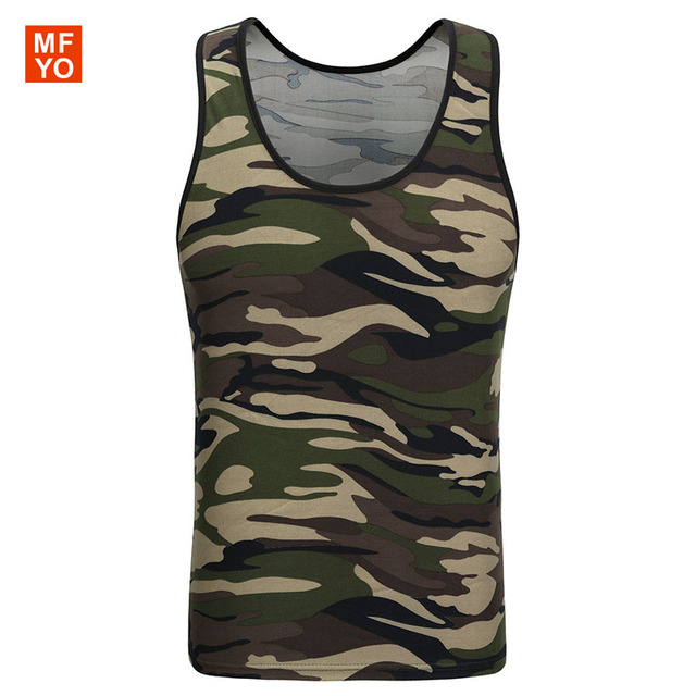 3d71e64f75e59 Men Army Military Tank Tops Camo Low Cut Camouflage Vest Top O Neck  Sleeveless Navy Green Singlet Tight Graphic