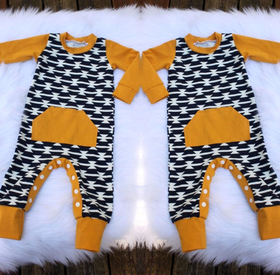 Newborn Baby Boys Warm Long Sleeve Jumpsuit Romper Playsuit Outfit Clothes 0-18M