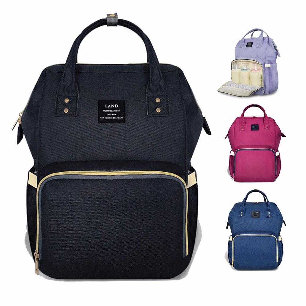 LAND Maternity Diaper Bag Mommy Nursing Bag For Baby Care Large Capacity  Fashion Travel Backpack Mother Kid Stroller Handbag ccaf93d5ad53b