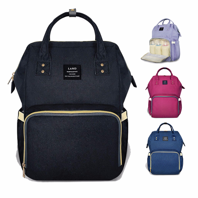 Land Maternity Diaper Bag Mommy Nursing For Baby Care Large Capacity Fashion Travel Backpack Mother