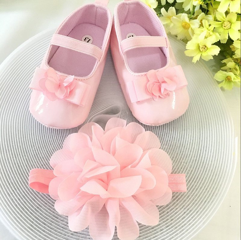 Kids flowers Shoes Girl Princess Lace Headband Cute Infant Girl Toddler Shoes Set Newborn Photography Props 5TX13