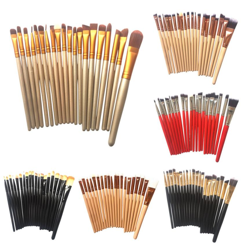 20 pcs Makeup Brushes Set Kit Foundation Powder Eyeshadow Eyeliner Lip Brush Tool Aug 10 2017 new20pcs foundation eyeshadow eyeliner lip brush tool makeup brushes set powder new