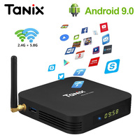 Tanix TX6 4GB 64GB 32GB Android 9.0 TV Box Allwinner H6 Quad Core ALICE Dual Antenna USB3.0 Dual Wifi BT4.2 HDR 4K Set Top Box