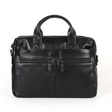 Genuine leather men messenger bags cowhide Shoulder leisure men's bag business portable briefcase 14″ Laptop handbag #MD-J7122