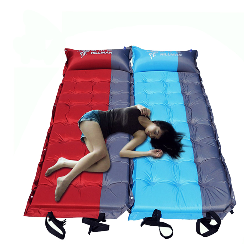 Car outdoor tent mat picnic mat sleeping pad widened thickening automatic air cushion inflatable bed beach bed can be spliced image