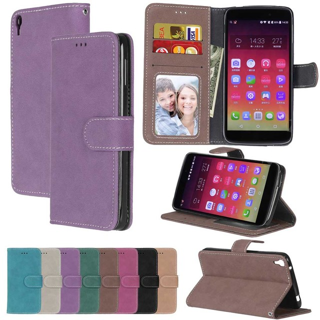 the latest b18e4 b7024 US $3.76 24% OFF|Luxury Leather Wallet Flip Cover Case For Alcatel One  Touch Idol 3 4.7 Case 6039 6039Y Phone Bags Coque For Alcatel Idol 3  Case-in ...