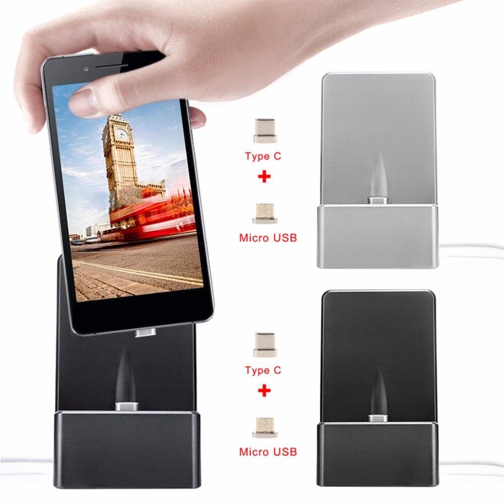 SIV Magnétique Micro USB Type C Double Face Station De Recharge Dock Pour Samsung Android Téléphone Tablet