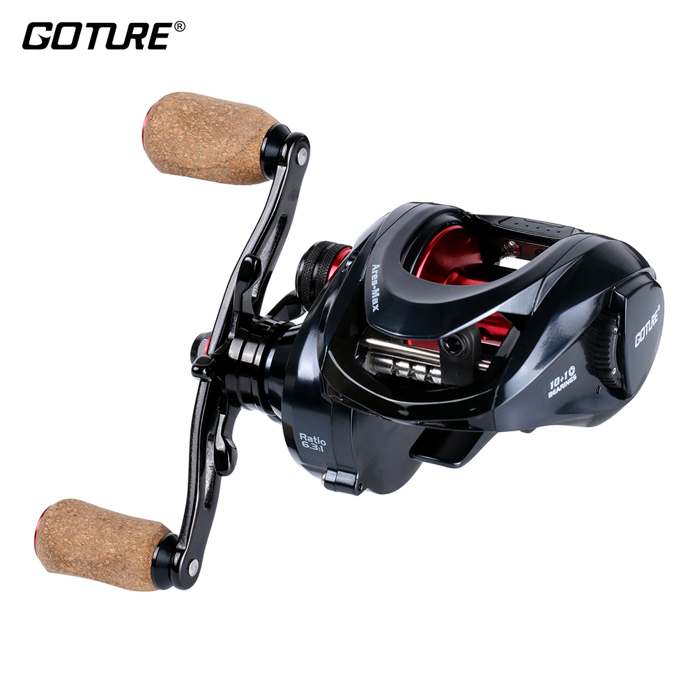 все цены на Goture Ares-Max Series Fishing Reels Saltwater Baitcasting Reel Max Drag 10KG 6.3:1 Left/Right Hand Carbon Fiber Drag System онлайн