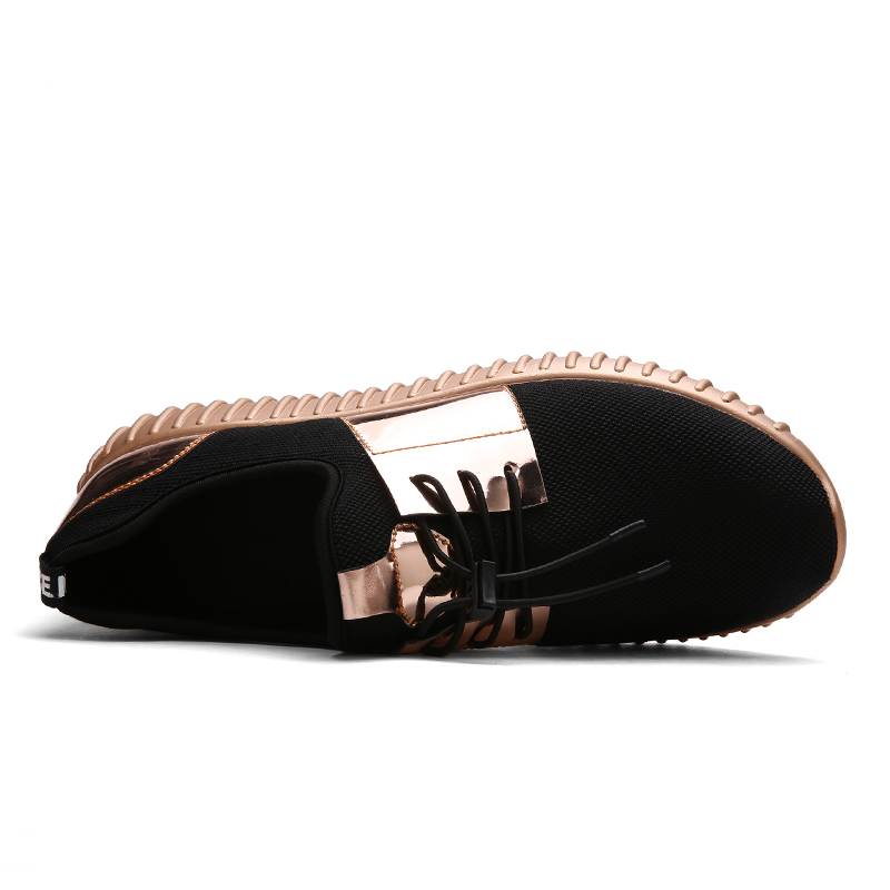 Fashion Womens Sneakers Paillette Shoes Women Flats Mesh Women's Casual Shoes Big Size 42 Brand Sneakers Black Gold Shoes