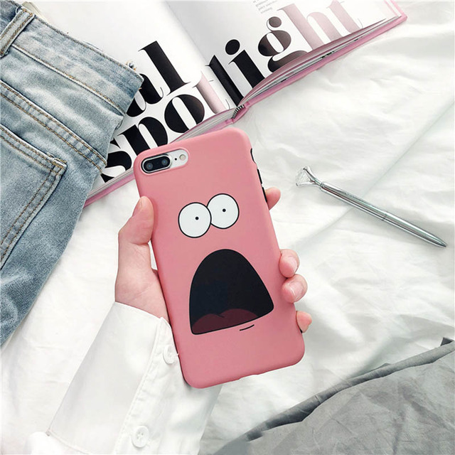Funny Cartoon Patrick Star Patterned Phone Case For iPhone