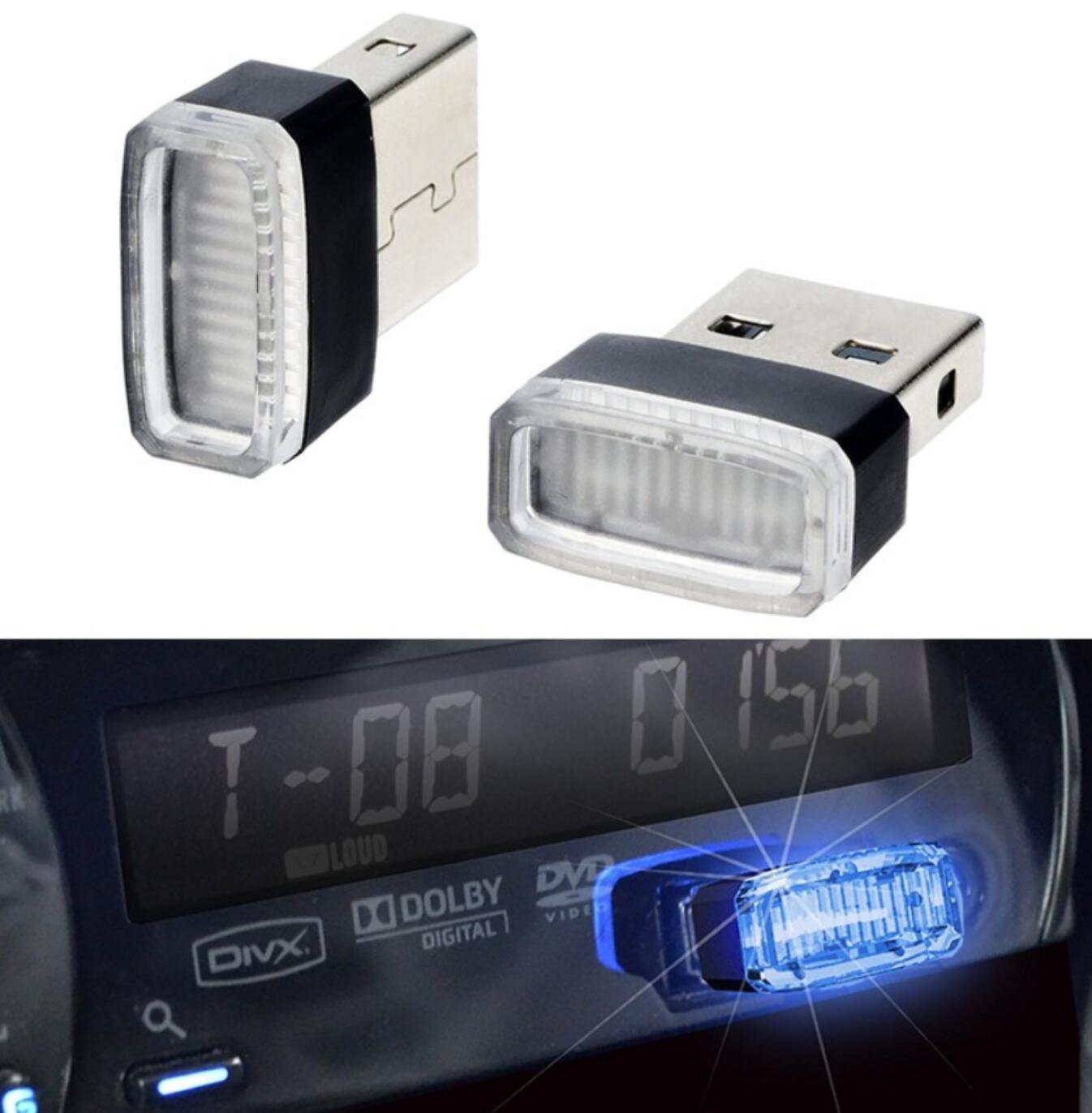Honing 1 Pcs Auto-styling Usb Sfeer Led Licht Auto Accessoires Voor Peugeot 206 207 208 301 307 308 407 408 508 607 2008 3008 4008