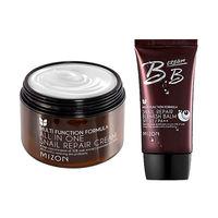 ميزون الكل في واحد الحلزون كريم 120 ملليلتر [سوبر الحجم] + الحلزون bb (SPF32/pa) 50 ملليلتر بشرة الوجه العناية بالوجه bb كريم التجميل الكورية