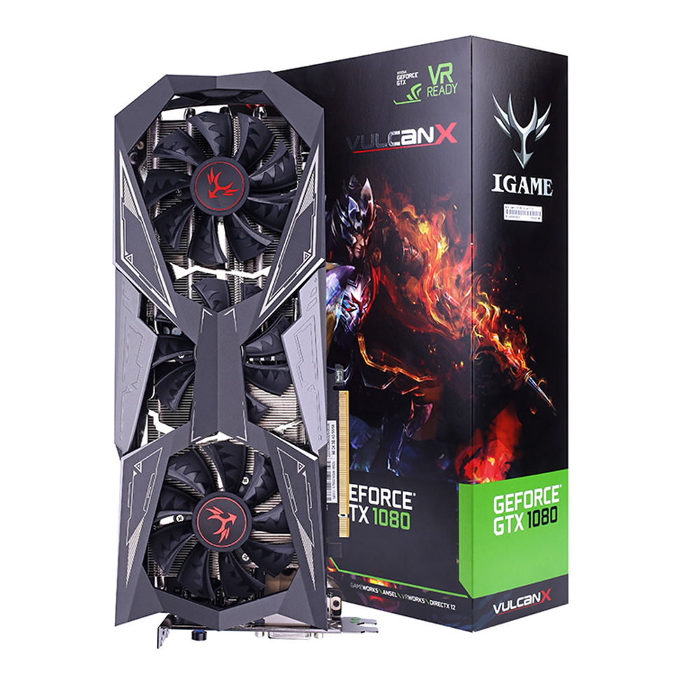 цены Colorful NVIDIA IGame GeForce GTX1080Ti Vulcan X Video Graphics Card 11000MHz 11G GDDR5 1480MHz 16nm 352bit 0.09ns GP102