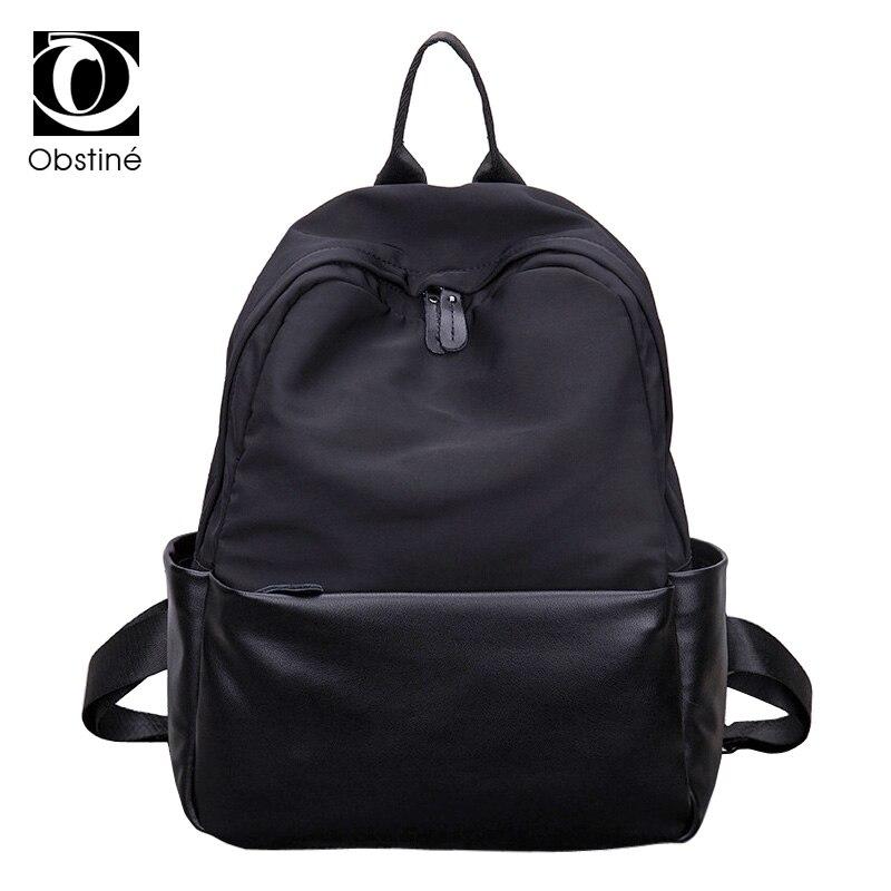 Obstine Designer Waterproof Black Backpack Female Large Capacity Oxford Backpacks for Girls Fashion Travel Bag Woman Pack Back