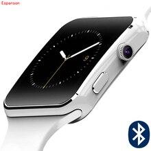 Lembrar Espanson X Relógio Inteligente Bluetooth Relógio smartwatch relógio do esporte Para O iPhone Da Apple Telefone Android Com Suporte de Câmera Cartão SIM