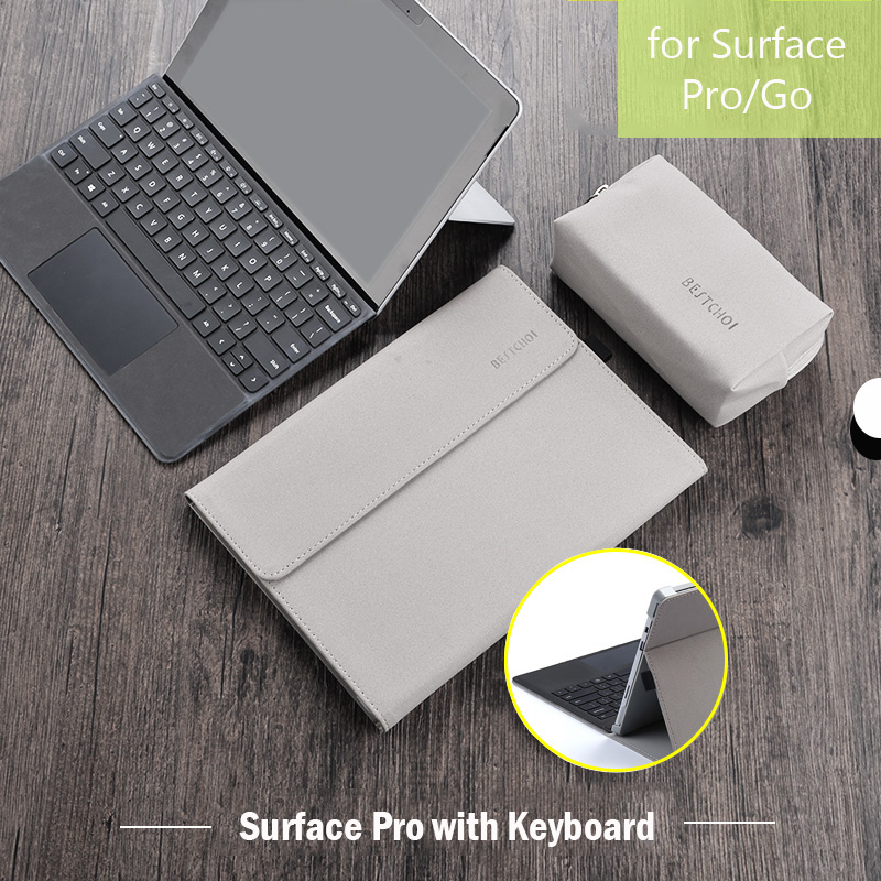 New Laptop Tablet Sleeve for Microsoft Surface Go Pro 6 Angles Folio Stand Case for Surface Pro 6 5 4 Case Women Men Laptop Bag
