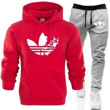 Fashion Hoodies Sweatshirts+Sweatpants Suits ADI Hoodie Sweatshirt Men/Women Casual Harajuku Warm Fleece Hooded Pullover Jacket(China)