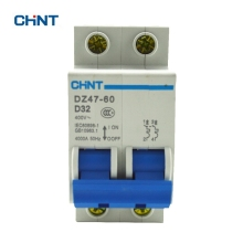 CHINT Miniature Circuit Breaker Mcb DZ47-60 2P D32 Household Miniature Circuit Breaker Air Switch 32A the melting of miniature circuit breaker household air ic45n 3p c25a air switch circuit breaker protection