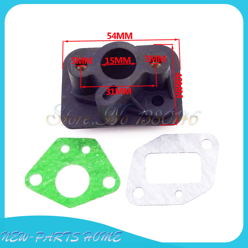 US $4 54 19% OFF|Intake Inlet Manifold Gaskets For 33cc 43cc 49cc Goped  Scooter Cat Eye Pocket Bike on Aliexpress com | Alibaba Group