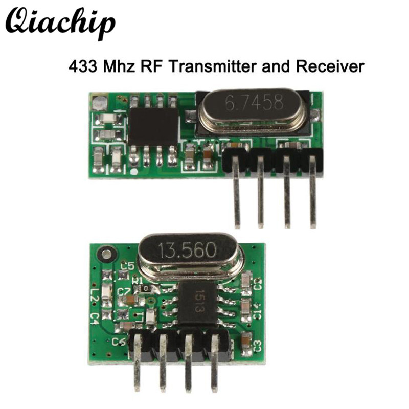 QIACHIP 433mhz RF Relay Receiver + Transmitter Module Mini Low Power Smart Home Light Remote Control Switch For Arduino Uno Diy
