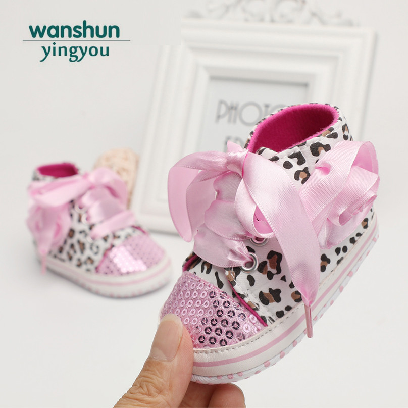Cute Baby Girls Love Heart Print Shoes Infant Toddler Anti-slip Sneakers Mother & Kids