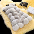2016 Novas Mulheres Jaqueta de Inverno Longo Colete De Pele De Alta Qualidade Do Falso Casaco de Pele De Raposa Casaco de pele Abrigo Plumifero 8 Cores Plus Size XXL