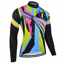 BXIO Winter Bike Jerseys Warm Long Sleeve Cycling Clothing Pro Team Bicycle Clothes Invierno Roupa Ciclismo MTB Cycle Jersey 54J