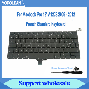 """Image 1 - New AZERTY French Keyboard With Screw Screwdriver For Macbook Pro 13"""" A1278 Keyboard 2009 2010 2011 2012"""