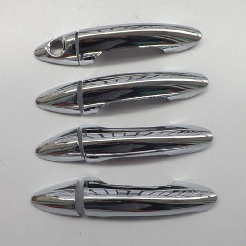 Free shipping For <font><b>hyundai</b></font> solaris accent 2010 2014 door handle <font><b>cover</b></font> ABS Chrome 8pcs car accessories