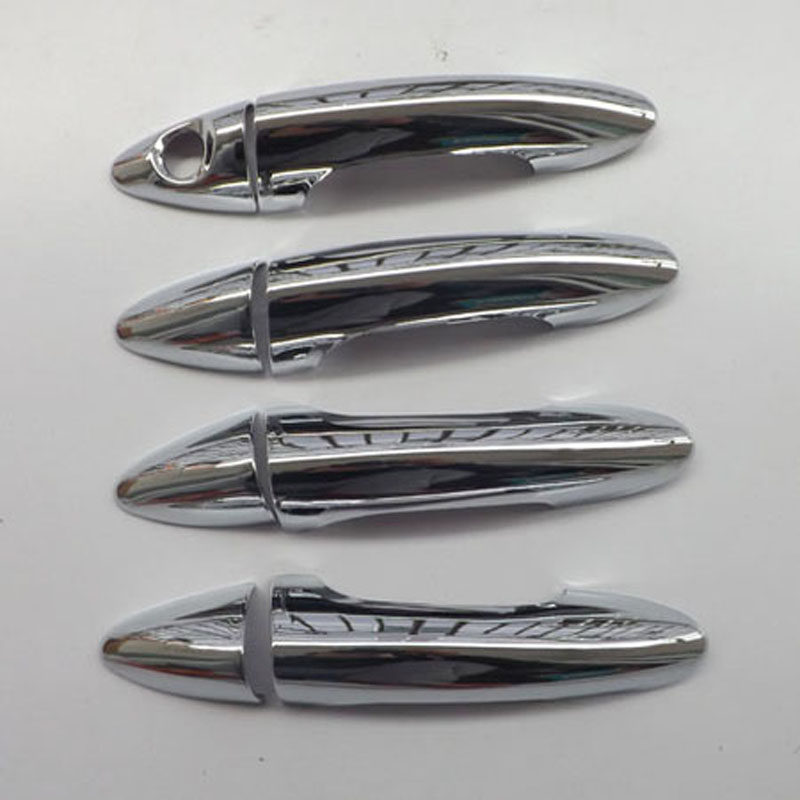 Free shipping for hyundai solaris accent 2010 2014 door handle cover abs chrome 8pcs car Hyundai accent exterior door handle