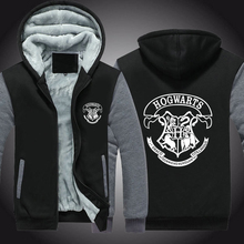 Hot New Harry Potter Hogwarts School Cosplay Coat Hoodie Winter Fleece Unisex Thicken Jacket Sweatshirts Fast Ship 5-10 Days Arr
