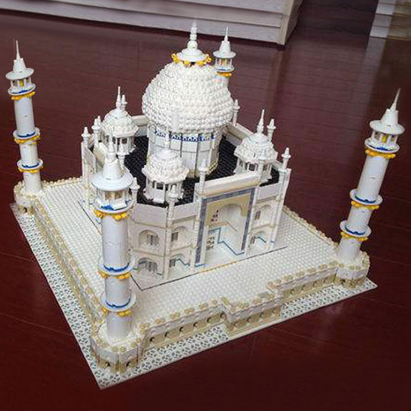 In Stock Lepin 17001 17008 The Taj Mahal Model legoing 10189 Educational Building Blocks Bricks Children DIY Funny Toys Gift lepin17001 city street tai mahal model building blocks kids brick toys children christmas gift compatible 10189 educational toys