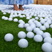New 2019 10pcs Golf Balls Outdoor Sports White PU Foam Golf Ball Indoor Outdoor Practice Training Aids(China)