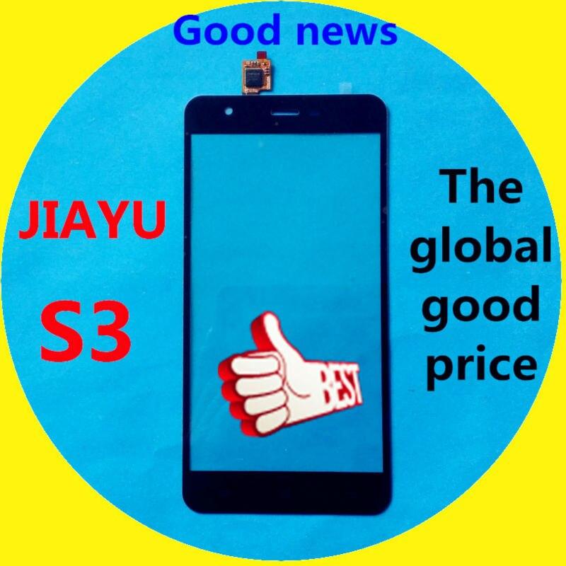 imágenes para De Color negro Para Jiayu S3 JY-S3 Blanco Frontal Exterior de Cristal de la Pantalla de Panel Táctil Digitalizador Envío Libre