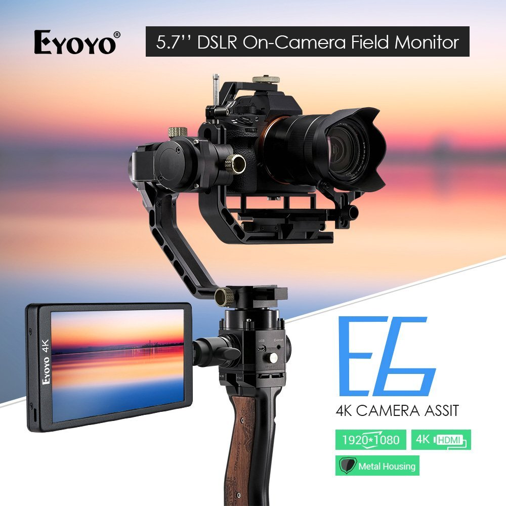 Eyoyo E6 5.7 1920x1080 DSLR On-Camera Monitor Support 4K HDMl Input/Output IPS Video Monitor for Sony A6/A7/GH4/GH5/Canon 5D цена