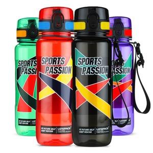 Image 3 - UZSPACE botellas de agua deportiva de gran capacidad para hombre, hervidor de agua portátil creativo, para exteriores, fitness, sin BPA