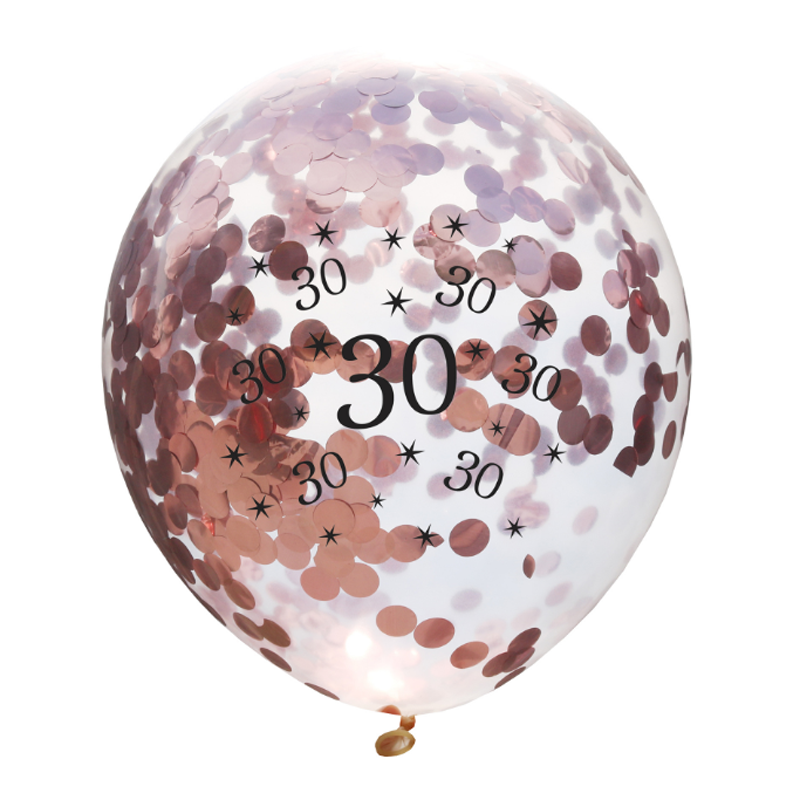 10 pcs/set Kawaii new 30 40 50 60 70 80 90 Happy Birthday Party rose gold Confetti Balloon Birthday Decorations Party Favors