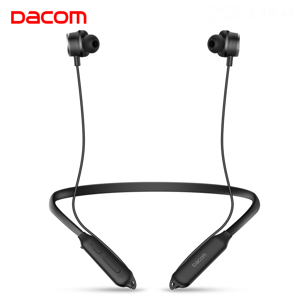Dacom in ear Blue Tooth Wireless Headphones Audifonos Bluetooth Earphone Active Noise Cancelling Headset Sport with Microphone sport headphones 3 5mm in ear earphone noise cancelling headset with microphone for xiaomi iphone samsung huawei pc