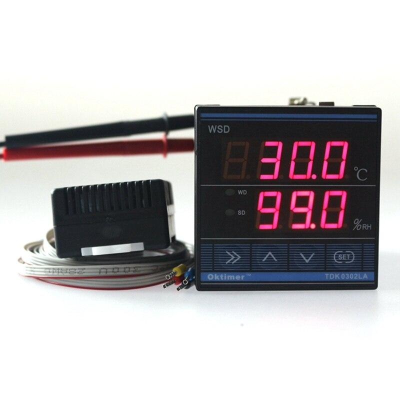 Digital TDK 0302LA PID Humidity Temperature Controller 220V LED Home Egg Incubator Farming Control CN902 Thermostat Sensor Cable