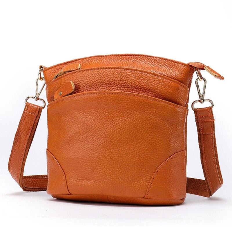 100% Garantieren Natürliche Rindsleder Frauen Schulter Taschen Schöne 3 Schichten Marke Design Kleine Echtem Leder Umhängetasche Messenger Bag Mit Traditionellen Methoden