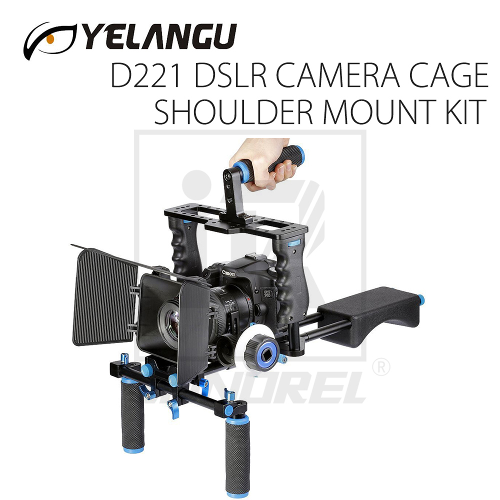 GAIOLA CÂMERA DSLR Rig SHOULDER MOUNT KIT D221 (Incluindo caixa de Matéria/Follow focus/Shoulder mount)
