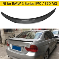For E90 M3 Carbon Fiber Rear Boot Lip Wing Spoiler for BMW E90 320i 325i 330i 335i 320d 325d 330d 335d  Rear Wing Spoiler