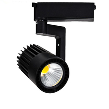Fedex DHL Free Shipping 15W LED track light for store/shopping mall lighting lamp Color optional White/black Spot light(China)