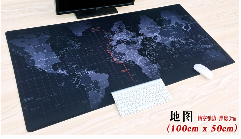 WESAPPA 100cm x 50cm XXL Large Mouse pad gamer <font><b>Mousepad</b></font> Keyboard mat Office Table Cushion Home Decor Estera ONE PIECE <font><b>anime</b></font> map image