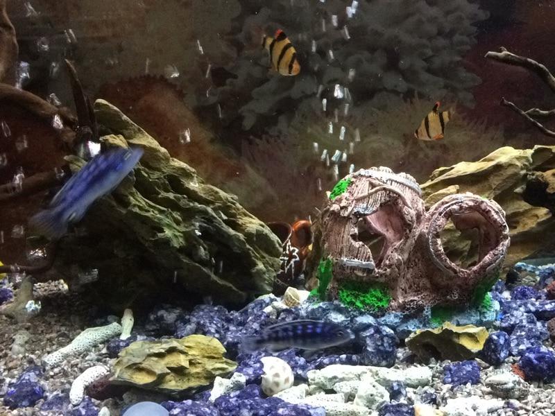15cm Tall Cream Pebble Stack Aquarium Fish Tank Ornament MS789