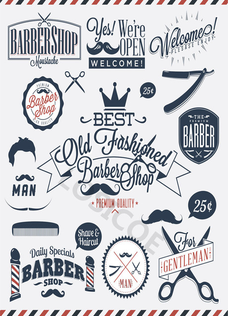 2cc969288f4 Barber Tools Tattoo Shave Hair salon Posters nostalgic retro kraft paper  poster wall stickers Barber Shop Decoration 30X42 CM