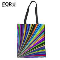 Forudesigns/Радуга цветов хозяйственная сумка эко-дамы подарок складной многоразовые сумки Портативный дорожная сумка