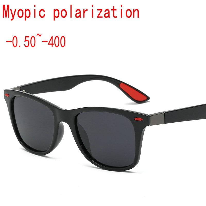 Square Custom Made Myopia Minus Prescription Polarized Lens Sport Polarized Sunglasses black Mirror Coating Anti-wind Goggle FML