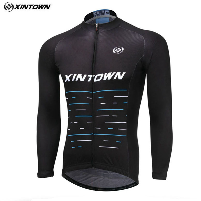 XINTOWN Team 2018 Pro Ropa Ciclismo Cycling Wear Cycling Jersey Riding Long Sleeve Winter Bicycle Clothing Mens Sportswear Bike